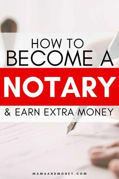 Are you interested in making extra money? Learn how to become a notary and make extra money as a work from home mom. How to become a notary in. Apps That Pay You, Hobbies That Make Money, Make Money Now, Need Money, Earn Money From Home, Make Money Blogging, Money Tips, Legit Work From Home, Legitimate Work From Home