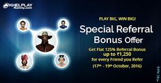 KhelPlay Rummy - Google+Don't miss this Opportunity to earn up to Rs. 1,250* @KhelPlay Rummy! >>bit.ly/rummy-referral-bonus-offer<< #PlayRummy #Rummy #Offer