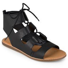 Journee Collection Womens Lace-up Flat Gladiator Sandals *** Find out more about the great product at the image link.