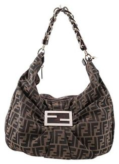 cbc151c8c1d9 Fendi Tobacco Zucca Print Mia Brown Canvas Leather Hobo Bag 18% off retail