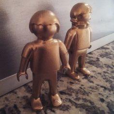 Creepy solid #gold #Playmobil children. #toys #custom #customs #customtoys #toystagram #toyslagram