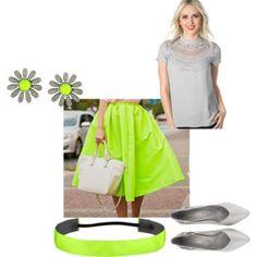 #modli #summer  #lime #green #silver #top #gray #skirt #summer # bracelet #shoes #flower #modest #fun #teen #blouse #shirt #elegant