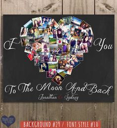 I Love You Print - Birthday Gift- Romantic Gift - Personalized Gift - Anniversary Gift for Her - Gift for Him - Gift for Mom Say I LOVE YOU with