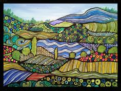 """""""Rolling Hills"""" art by painter Julie Leuthold"""