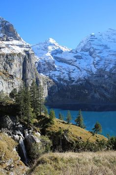 Beautiful mountain lake in the Swiss Alps in the Bernese Oberland. The canton of Bern offers mountains, lakes, forests, meadows and wonderful hikes. Beautiful mountain lake in Bernese Ob Lake Photography, Travel Photography, Deep Sleep Meditation, Meditation Music, Swiss Alps, Mountain Landscape, Places To See, Scenery, World