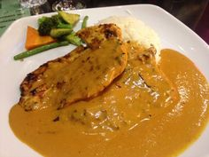 #yummy #chicken cooked in mustard and herbs with garlic rice! #food
