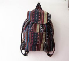 boho rucksack hipster backpack aztec school bag tribal by gampri