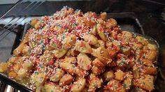 La ricetta per realizzare gli struffoli Cotti al forno,la trovate qui': http://blog.giallozafferano.it/ledolcifolliedivanessa/struffoli-cotti-al-forno/