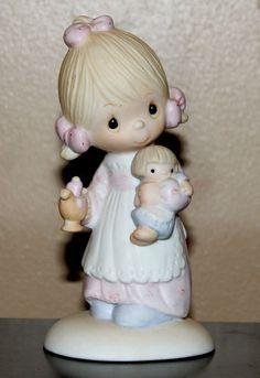 "1977 Precious Moments Figurine ""Jesus is the Light"" Girl Original 21 Retired | eBay"