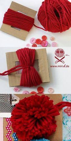 Die Pompons by oyunchimeg.tseren Die Pompons by oyunchimeg. Kids Crafts, Diy And Crafts, Arts And Crafts, Creative Crafts, Preschool Crafts, Knitting Projects, Crochet Projects, Craft Projects, Tulle Projects