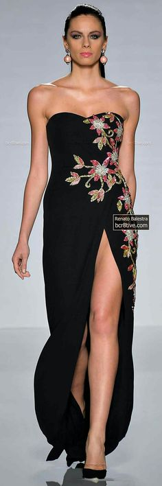 c1970a9a1 Renato Balestra Fall Winter 2014 Couture is a slightly small collection but  elegant and memorable. Formal blacks with soft pink dominate this  collection.