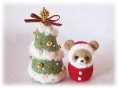羊毛フェルトのクリスマスツリー&冬くま<緑×赤>   ホーム&リビング ...