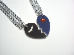 Hey, I found this really awesome Etsy listing at http://www.etsy.com/listing/109757240/batman-and-superman-half-heart-necklace