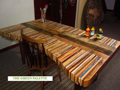 Slatted Pallet Dining Table
