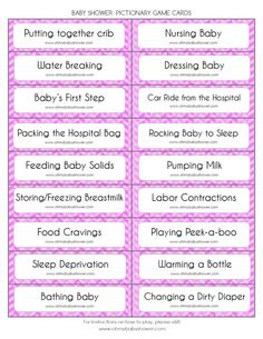 Baby Shower Pictionary Game | Oh My Baby Shower