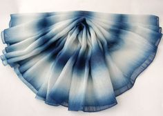 indigo silk scarf