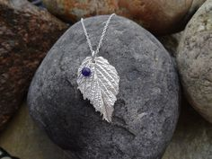 Real Rasberry Leaf Pendant, Handmade in Fine Silver, with agate bead charm £24.95 #hmuk   #networkingfairies  #fabulousfbpages
