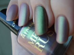 Rimmel Pearly Queen sponged and mattified over nude with accent over black *click for more*