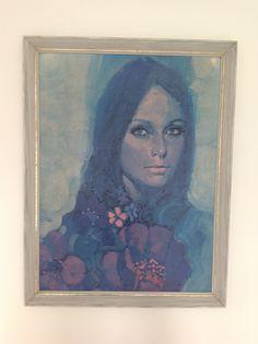 'Think indigo' by Michael johnson. Lady retro print like lynch.