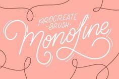 iPad Lettering brush - Monoline by Sasha Hickson on @creativemarket