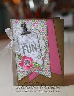 So cute card using CTMH Lollydoodle papers.  by Aaron Brown