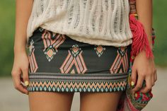 love this printed skirt