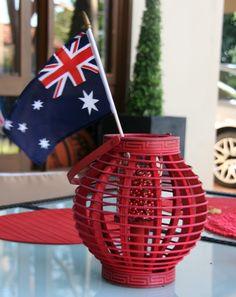 Australian flag decor for Australia Day