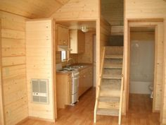 Tiny Houses On Wheels Interior | ... tiny house because I want my pets to be able to get up & down from the