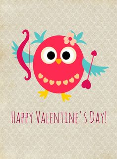 Free Happy Valentine's Day Owl Printable from Glued To My Crafts