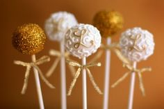 Fancy Cake Pops - Shania this one is for you! Monogram Cake, Monogram Wedding, Gold Wedding, Wedding Reception, Glitter Wedding, Monogram Letters, Wedding Blog, Fancy Cakes, Mini Cakes