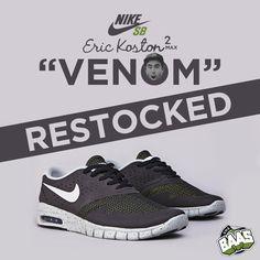 "RESTOCK! Nike Eric Koston 2 Max ""VENOM""   BE QUICK!!   www.sneakerbaas.nl   #NIKE #KOSTON #MAX #RESTOCK"