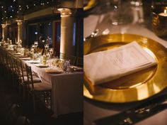 Wedding: Blush, Candlelit King's Tables at Torpedo Factory in Alexandria, Virginia » Sweet Root Village Blog