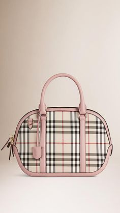 87b245a8e096 Stone pale orchid The Small Orchard in Horseferry Check - Image 1 Burberry  Handbags
