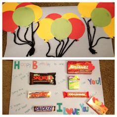 Candy Birthday card for my boyfriends birthday! Yum :)