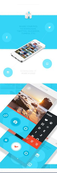 PicLab - Fun photo editing! by Roberto Nickson, via Behance