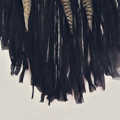 - Made to order! -   Large black #dreamcatcher   Handmade of metal hoop wrapped with cotton fabric, crochet  cotton doily, cotton stripes and pheasant feathers.   Gothic boh...