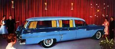 20 Years Early For Elvis' Funeral. Outrageous 1957 Cadillac Hearse by Miller-Meteor.