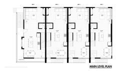 Floor Plan Of A Row House Homes Zone Plans In 600 Sq Ft Emerson Rowhouse Meridian 105 Architecture 4 Row House Plans House Plan