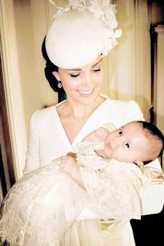 Princess Charlotte, and her mother the Duchess of Cambridge in a newly released christening portrait taken by Mario Testino | 9th of July, 2015