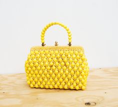 60s yellow purse - spring by pompomclothing