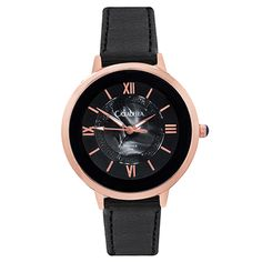 Rose gold watch with black straps and face Gold Watch, Fashion Accessories, Rose Gold, Watches, Face, Shopping, Wristwatches, Clocks, The Face