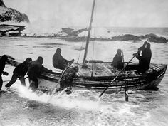 Frank Hurleys photograph of Sir Ernest Shackleton and his five-man crew, setting off on an epic journey of 800-miles (1,500km) across the Southern Ocean in an open boat, is one of the enduring images of the heroic age of Antarctic exploration. This photograph was taken on 24 April 1916