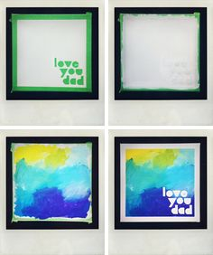 DIY dad artwork tutorial via Pink Sugarland
