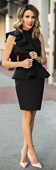 black dress @roressclothes closet ideas women fashion outfit clothing style The Overlooked Statement Piece by Hello Fashion