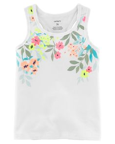 Toddler Girl Floral Jersey Tank | Carters.com