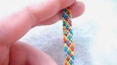 ► Friendship Bracelet Tutorial 4 - Beginner - The Rag Rug (Easy Pattern), via YouTube.
