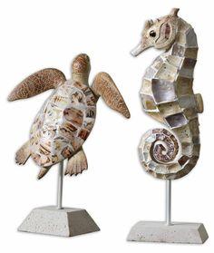Coastal Creatures Sculpture by Uttermost