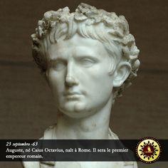 #Éphéméride : 23 septembre -63, Auguste, né Caius Octavius, naît à Rome. Il sera le premier empereur romain. - institut-iliade.com