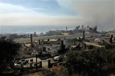 The Thomas Fire continues to burn in Southern California, leaving severe destruction in its wake. Ventura California, Ventura County, Southern California, Seattle Skyline, Paris Skyline, 2017 Photos, Destruction, December, Fire