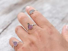 Miyu // Tourmaline Ring//Tourmaline is a grounding, purifying power stone that offers protection.